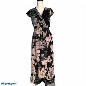 Band of Gypsies Floral High Low Maxi Dress size L